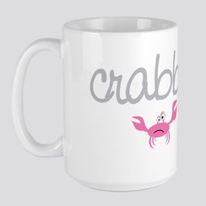 mom and baby crabby Large Mug