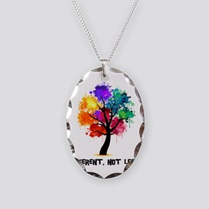Different Not Less Necklace Oval Charm