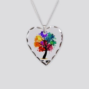 Different Not Less Necklace Heart Charm