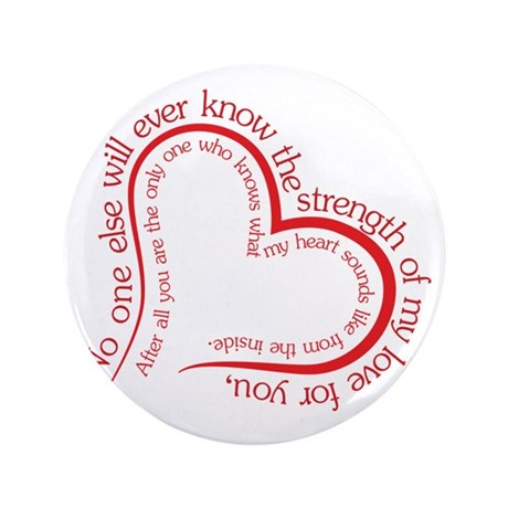 """The Strength of My Love 3.5"""" Button"""