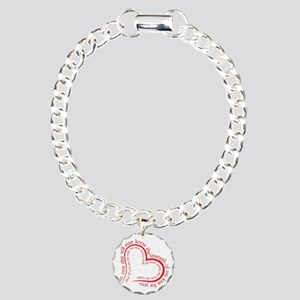The Strength of My Love Charm Bracelet, One Charm