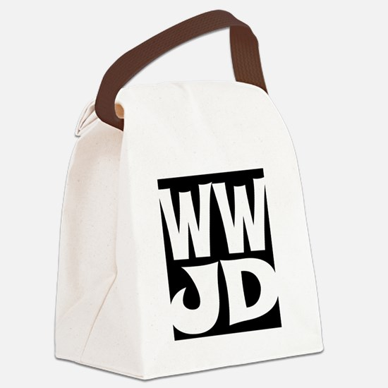 W W J D Canvas Lunch Bag