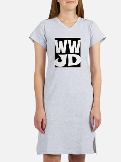 W W J D Women's Nightshirt