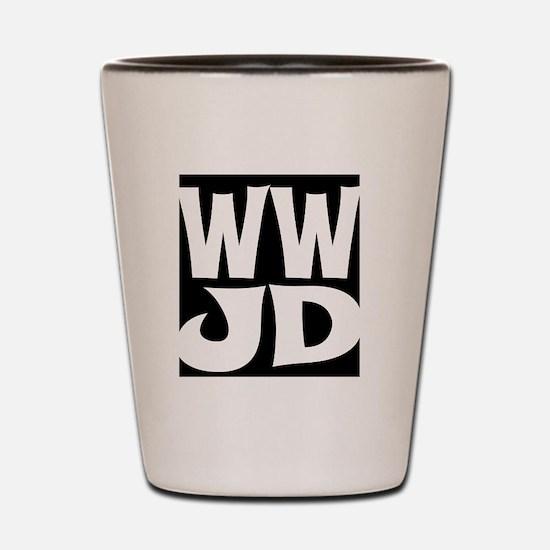 W W J D Shot Glass