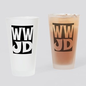 W W J D Drinking Glass