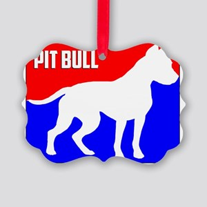 Major League Pit Bull Dog Picture Ornament