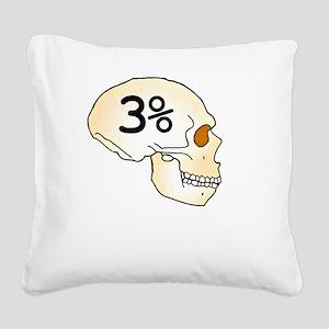 Three Percent Neanderthal Square Canvas Pillow