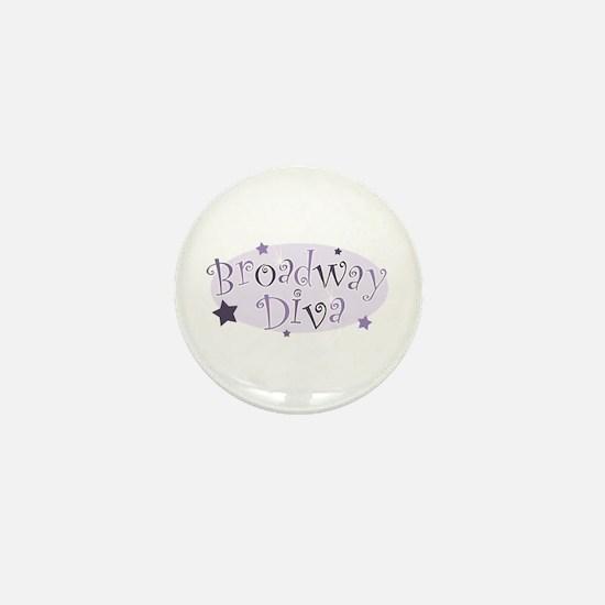"""""""Broadway Diva"""" [purple] Mini Button"""