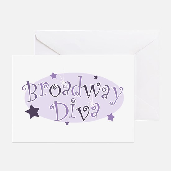 """""""Broadway Diva"""" [purple] Greeting Cards (Package o"""