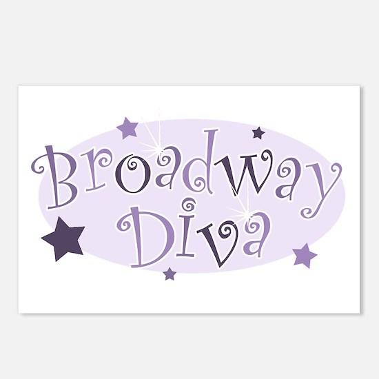 """Broadway Diva"" [purple] Postcards (Package of 8)"