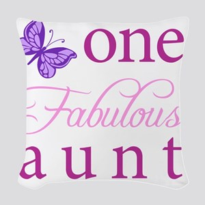 One Fabulous Aunt Woven Throw Pillow