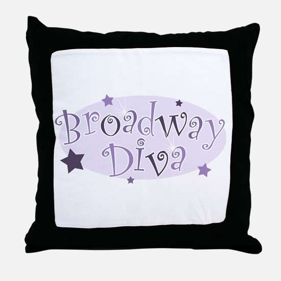 """Broadway Diva"" [purple] Throw Pillow"