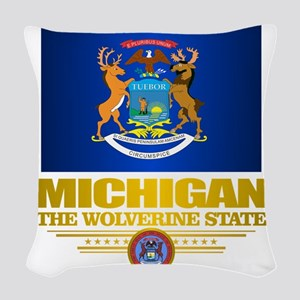 Michigan Pride Woven Throw Pillow