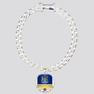 Michigan Pride Charm Bracelet, One Charm