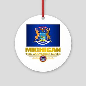 Michigan Pride Round Ornament