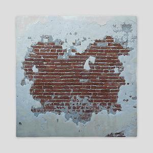 Plaster and Brick Grunge Shower Curtai Queen Duvet