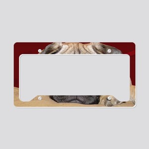 Adorable iCuddle Pug Puppy License Plate Holder