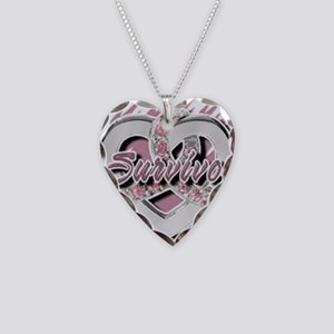 Survivor in Heart Necklace Heart Charm