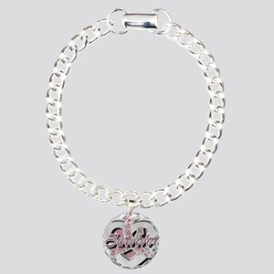 Survivor in Heart Charm Bracelet, One Charm