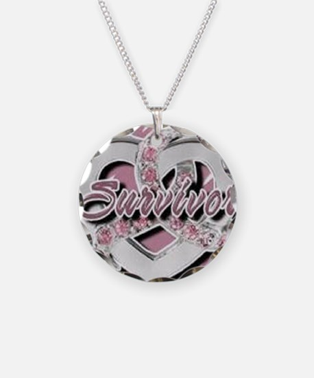 Survivor in Heart Necklace