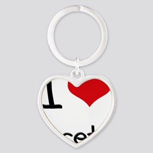 I Love Facets Heart Keychain