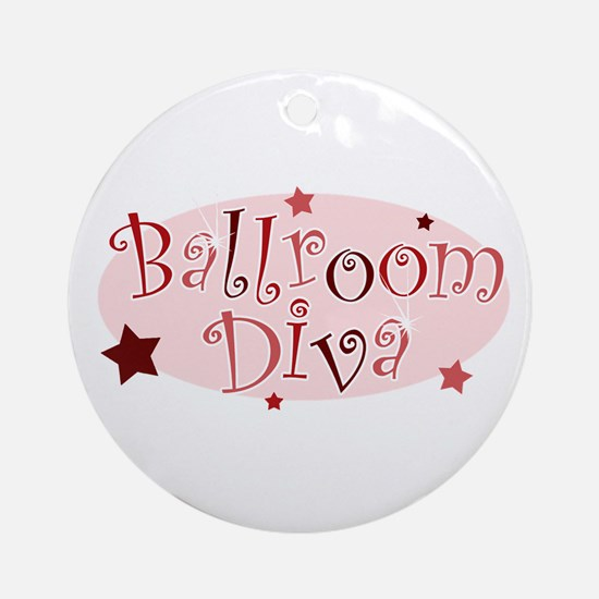 """Ballroom Diva"" [red] Ornament (Round)"