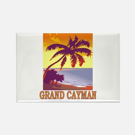 Grand Cayman Rectangle Magnet