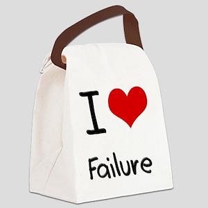 I Love Failure Canvas Lunch Bag