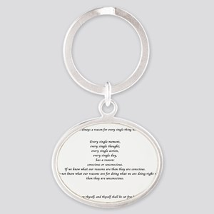 Give me a Reason... Oval Keychain