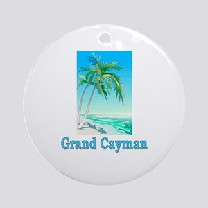 Grand Cayman Ornament (Round)