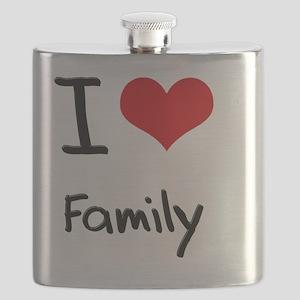I Love Family Flask