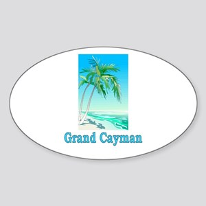 Grand Cayman Oval Sticker