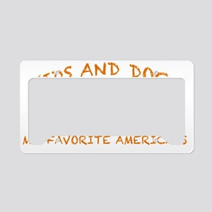 Kids and dogs License Plate Holder
