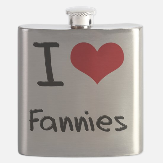 I Love Fannies Flask