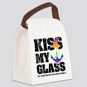 Kiss My GLASS Canvas Lunch Bag