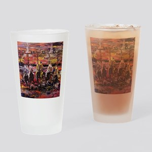 And Theyre Off Kentucky Derby Poste Drinking Glass