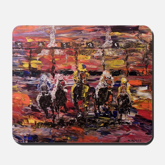 And Theyre Off Kentucky Derby Poster Pri Mousepad
