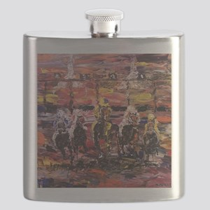 And Theyre Off Kentucky Derby Poster Print Flask