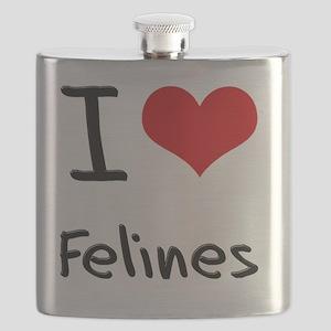 I Love Felines Flask