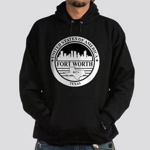 Fort worth logo white and black Hoodie (dark)