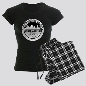 Fort worth logo white and bl Women's Dark Pajamas
