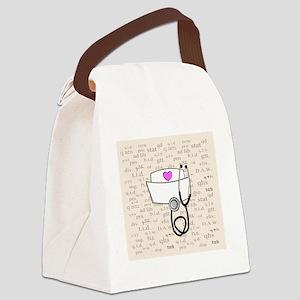 Nurse Cream Canvas Lunch Bag