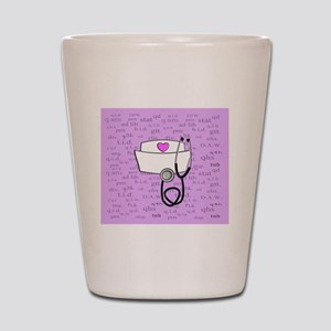 Nurse Pink Shot Glass