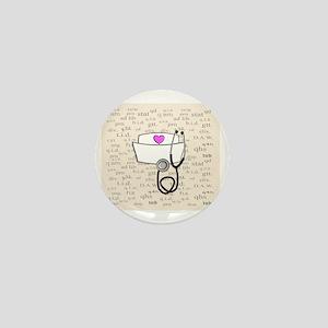 Nurse Cream Mini Button