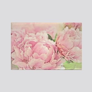Pink Peonies Rectangle Magnet
