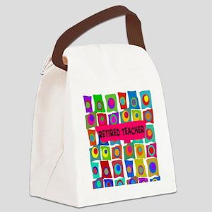 retired teacher 2 Canvas Lunch Bag