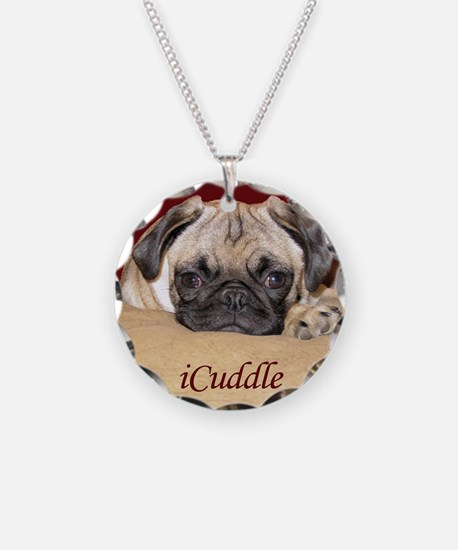 Adorable iCuddle Pug Puppy Necklace