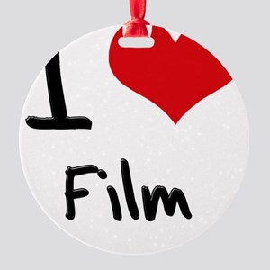 I Love Film Round Ornament