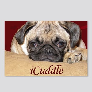 Adorable iCuddle Pug Pupp Postcards (Package of 8)