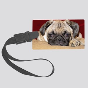 Adorable iCuddle Pug Puppy Large Luggage Tag
